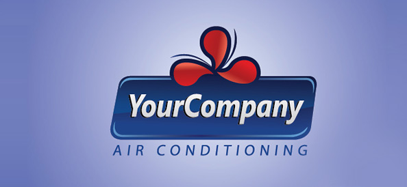 Air Conditioning Free Logo Design Template