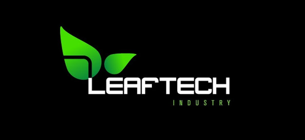 High Tech Leaf Logo Design Template