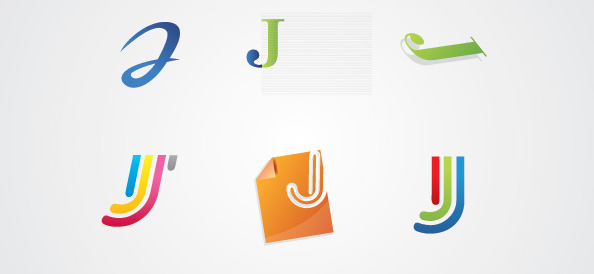 J Letter Logotype Set
