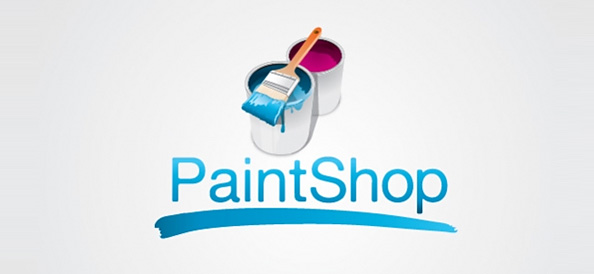 Paint Shop Free Vector Logo