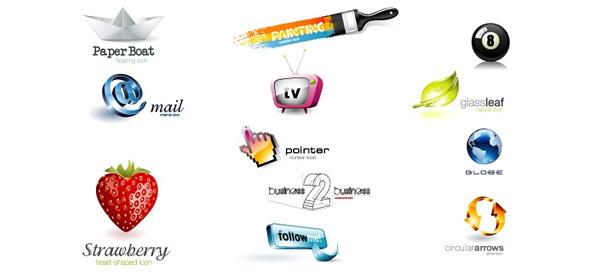 3D Logo Design Template Set