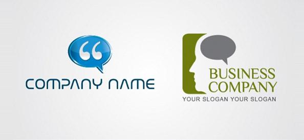 Chat Bubbles Vector Logo Templates