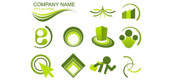 Green Logo Vector Design Set