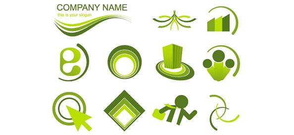 Green Logo Vector Design Set