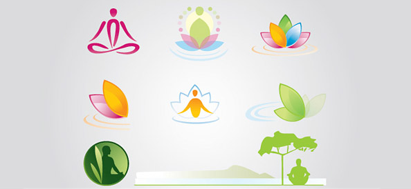 Meditation Free Logo Set