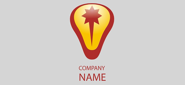 Red Logo Design Template for Business Companies