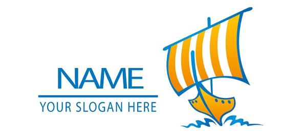 Sailboat Vector Logo Template
