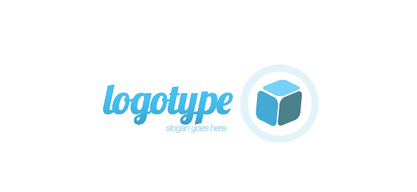 3D Cube Logo Design Template