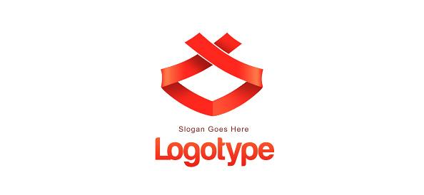 Ribbon Logo Design Template