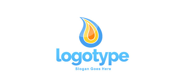 Flame Logo Design Template