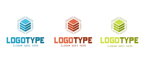Hosting Logo Design Set