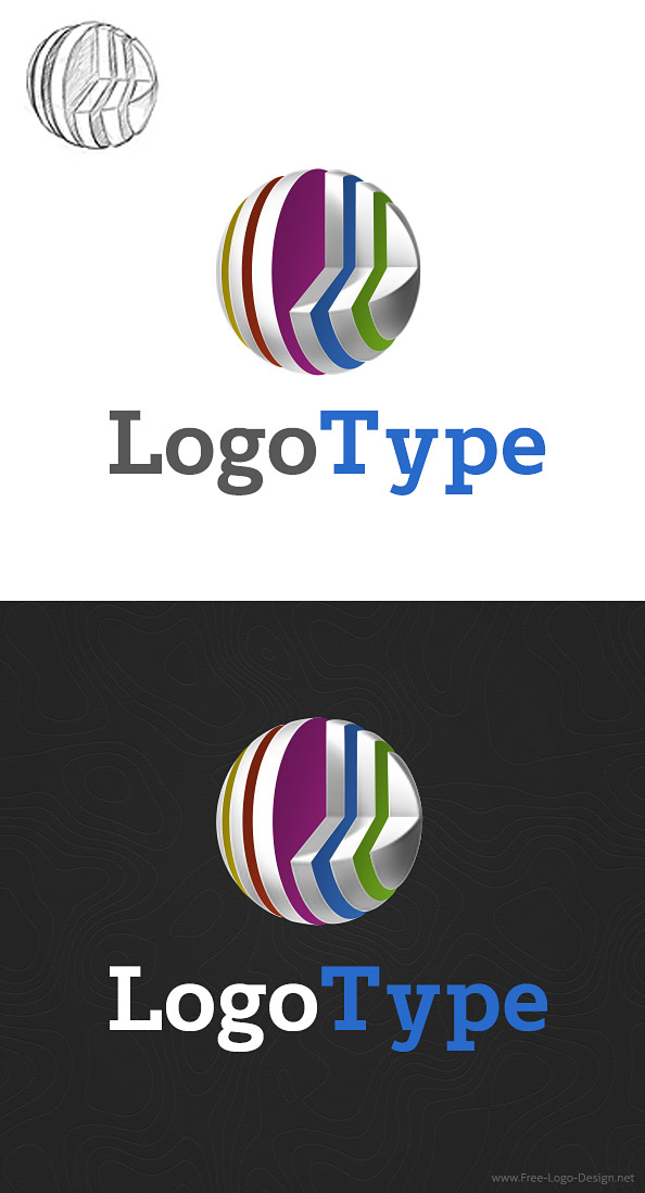 3D Logo Design Template - Free Logo Design Templates