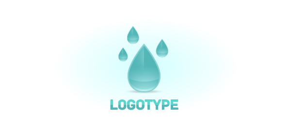 Raindrop Logo Design Template