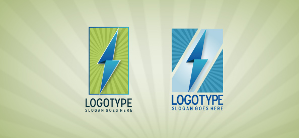 Lightning in a Shape Logo Template