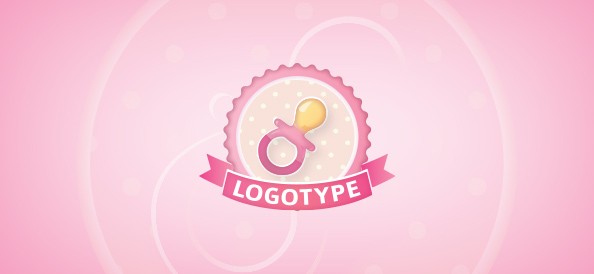Baby Pacifier Logo Template