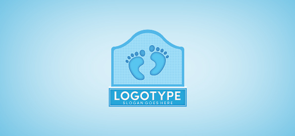 Footprints Logo Template