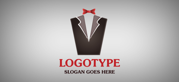 Formal Suit Logo Template