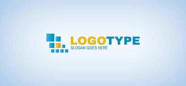 Squares Business Logo Template